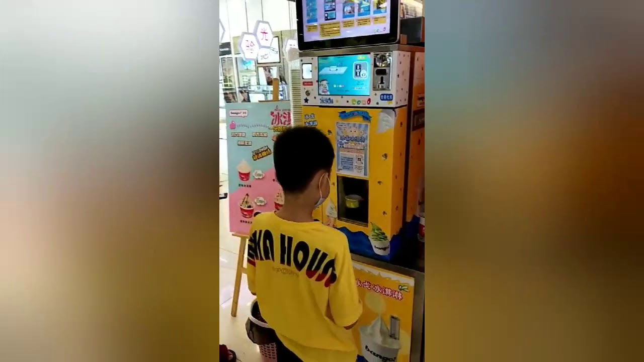 One plus one supermarket activities use HM116T vending ice cream machine