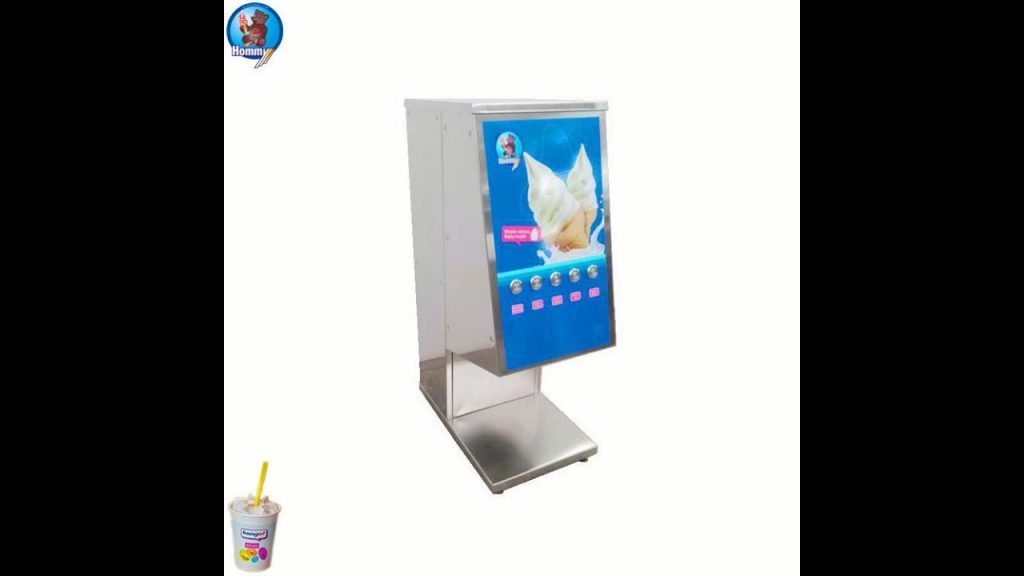 One shot Ice Cream dispenser, one off frozen dessert machine HM26 operation