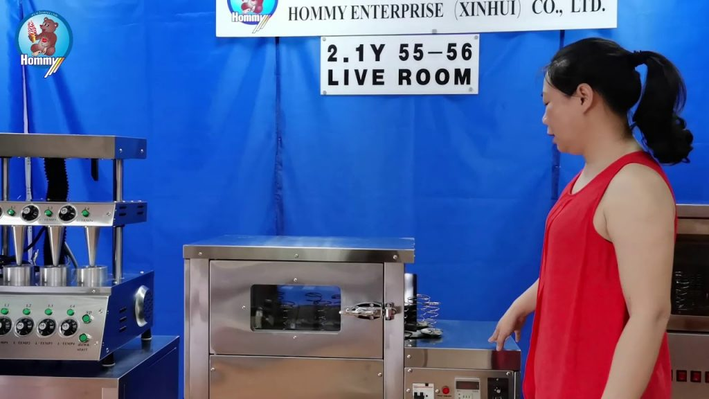 Explain the operation of roating pizza cone oven PA 1 in the live room