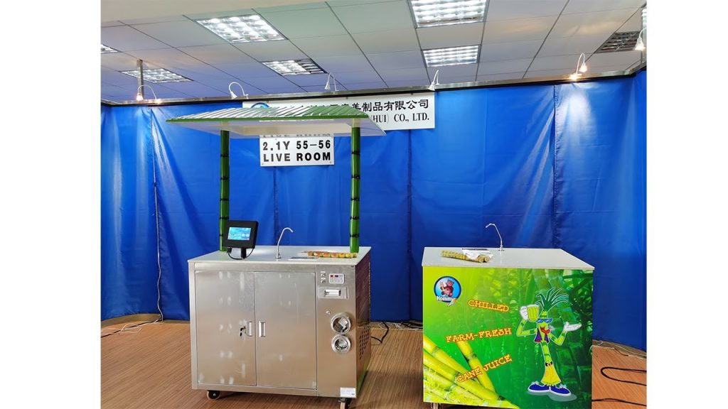 127th carton fair , we show our sugarcane juice machine in our live room